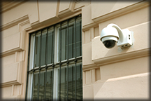 Exterior home and business security cameras.