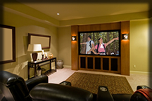 Dynatek offers custom home theater installations.